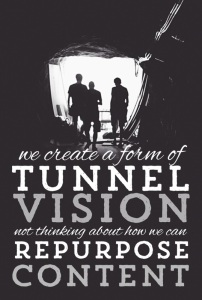 create a form of tunnel vision not thinking about..
