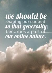 generosity online nature
